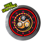 Neonetics 15-Inch Billiards 1, 8, 9 Neon Clock