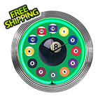 Neonetics 15-Inch Billiard Ball Green Neon Clock