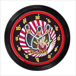 15-Inch Bowling Neon Clock