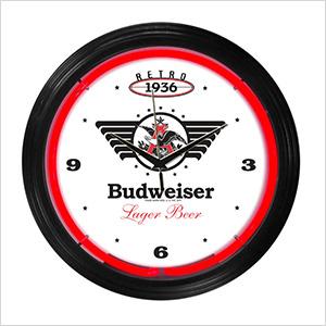 15-Inch Budweiser 1936 Retro Neon Clock