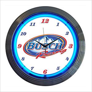15-Inch Busch Racing Neon Clock