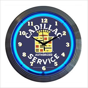 15-Inch Cadillac Service Neon Clock