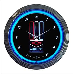15-Inch Chevy Camaro Neon Clock