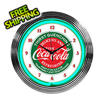 Neonetics 15-Inch Coca-Cola Evergreen Neon Clock