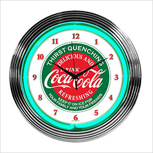15-Inch Coca-Cola Evergreen Neon Clock