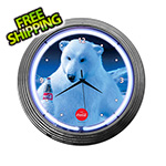 Neonetics 15-Inch Coca-Cola Polar Bear Neon Clock