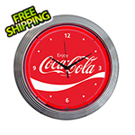 Neonetics 15-Inch Coca-Cola Wave Neon Clock
