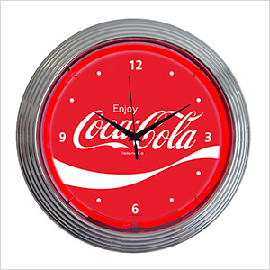 15-Inch Coca-Cola Wave Neon Clock