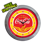 Neonetics 15-Inch Coca-Cola Wings Neon Clock