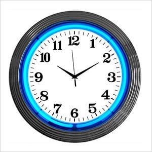 15-Inch Standard Blue Neon Clock