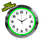 Neonetics 15-Inch Standard Green Neon Clock