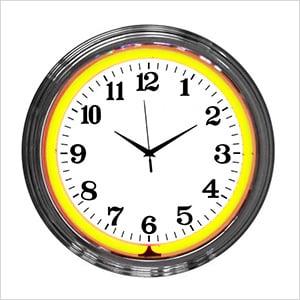 15-Inch Standard Orange Neon Clock