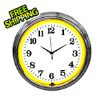 Neonetics 15-Inch Standard Yellow Neon Clock