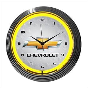 15-Inch Chevrolet Neon Clock