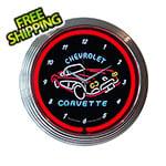 Neonetics 15-Inch Corvette C1 Neon Clock
