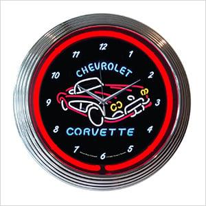 15-Inch Corvette C1 Neon Clock