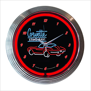 15-Inch Corvette SR Neon Clock