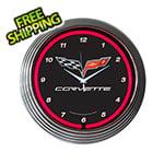 Neonetics 15-Inch Corvette C6 Neon Clock