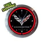 Neonetics 15-Inch Corvette C7 Neon Clock