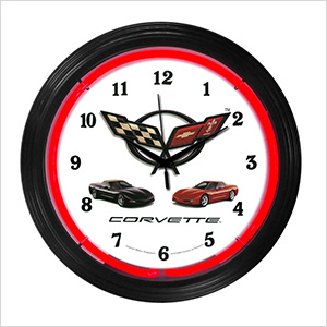 15-Inch Corvette C5 Neon Clock