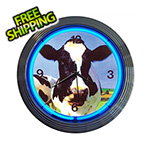 Neonetics 15-Inch Cow Neon Clock