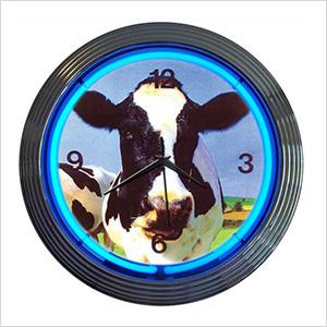 15-Inch Cow Neon Clock