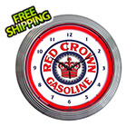 Neonetics 15-Inch Red Crown Gasoline Neon Clock