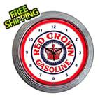 Neonetics 15-Inch Red Crown Gasoline Neon Clock