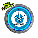 Neonetics 15-Inch Chrysler Pentastar Neon Clock