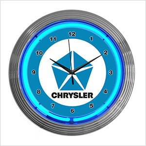 15-Inch Chrysler Pentastar Neon Clock