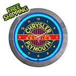 Neonetics 15-Inch Chrysler Plymouth Neon Clock