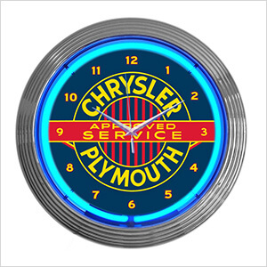 15-Inch Chrysler Plymouth Neon Clock