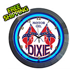 Neonetics 15-Inch Dixie Motor Oil Neon Clock