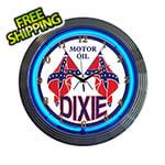 Neonetics 15-Inch Dixie Motor Oil Neon Clock