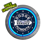 Neonetics 15-Inch Dodge Plymouth Service Neon Clock
