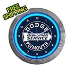 Neonetics 15-Inch Dodge Plymouth Service Neon Clock