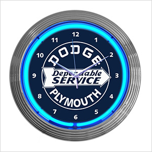 15-Inch Dodge Plymouth Service Neon Clock