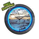 Neonetics 15-Inch Dolphins at Sea Neon Clock