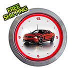 Neonetics 15-Inch Ford Mustang Boss 302 Neon Clock