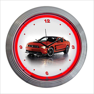 15-Inch Ford Mustang Boss 302 Neon Clock