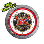 Neonetics 15-Inch Fire Department Neon Clock