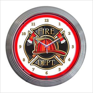 15-Inch Fire Department Neon Clock