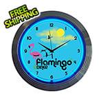Neonetics 15-Inch Flamingo Diner Neon Clock