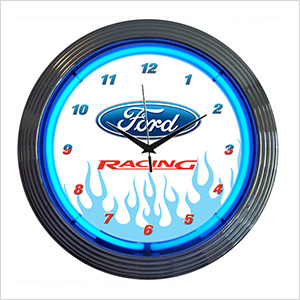 15-Inch Ford Racing Neon Clock