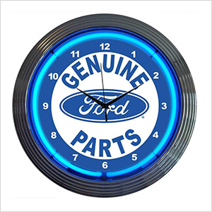 15-Inch Ford Genuine Parts Neon Clock