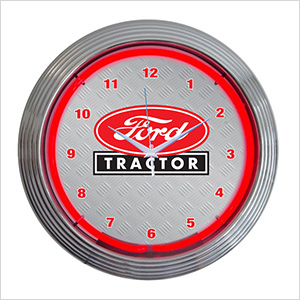 15-Inch Ford Tractor Neon Clock