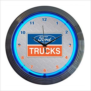 15-Inch Ford Trucks Neon Clock