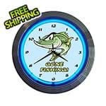 Neonetics 15-Inch Gone Fishing Neon Clock