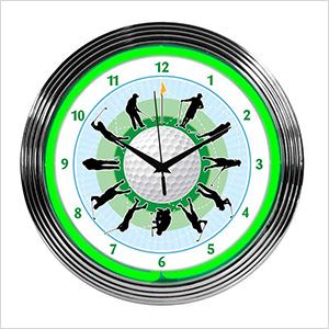 15-Inch Golf Neon Clock