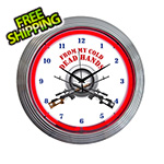 Neonetics 15-Inch From My Cold Dead Hands Neon Clock